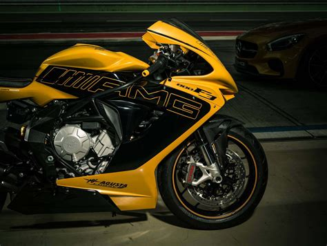 mercedes motorcycle it s impossible to lose this mv agusta in a parking lot