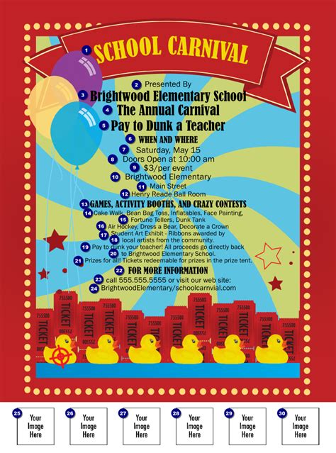 templates for carnival flyers 8 best images of printable carnival flyer school