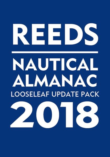 2018 nautical almanac books reeds looseleaf nautical almanac update pack 2018