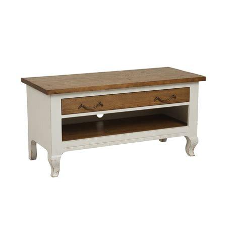Meuble Tv Interiors meuble tv 1 tiroir blanc interior s