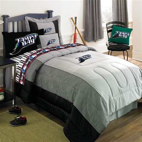 baseball bedding full ta bay devil rays mlb authentic team jersey bedding