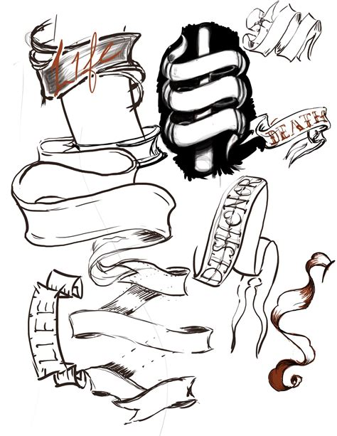 banner tattoo design banner fresh ideas