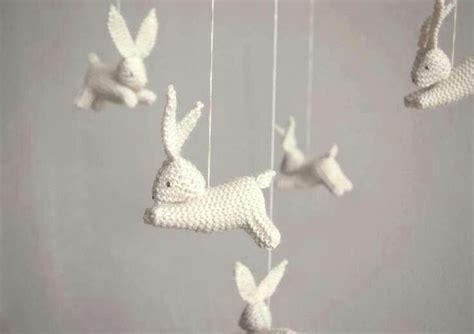 Bunny Crib Mobile by Crochet Rabbit Mobile Crochet And Knitting