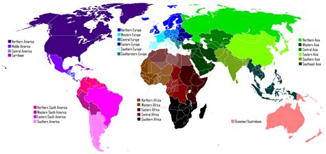 regions world map regions of the world by tepes on