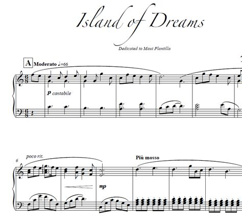 island of dreams a island of dreams sheet music kyle landry