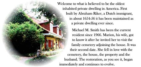the origin of the family property and the state books riker home welcome to the lent riker smith homestead