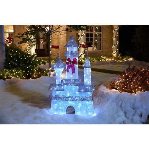 home accents holiday  ft pre lit twinkling castle ty