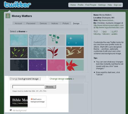 twitter layout change enforce your brand on twitter use a custom background