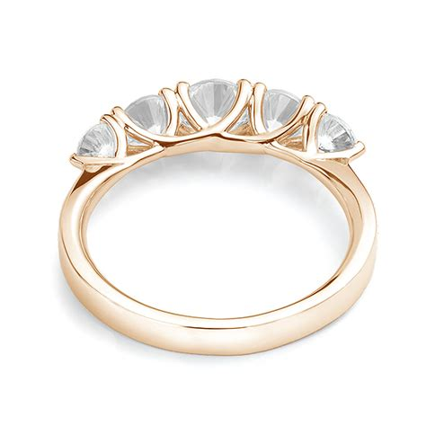 stone graduated diamond trellis ring
