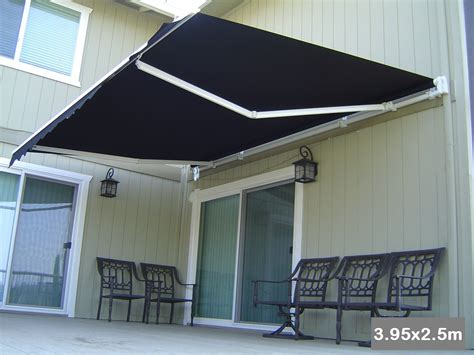 sunshade awnings roll out patio window door outdoor awning 3 95x2 5m buy door window awnings