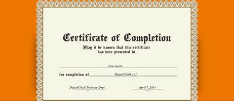 certificate of completion ojt template certificate of completion template images