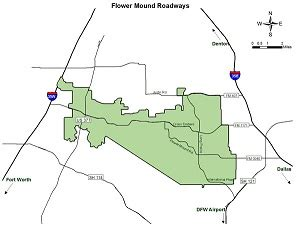 map flower mound texas flower mound tx official website transportation