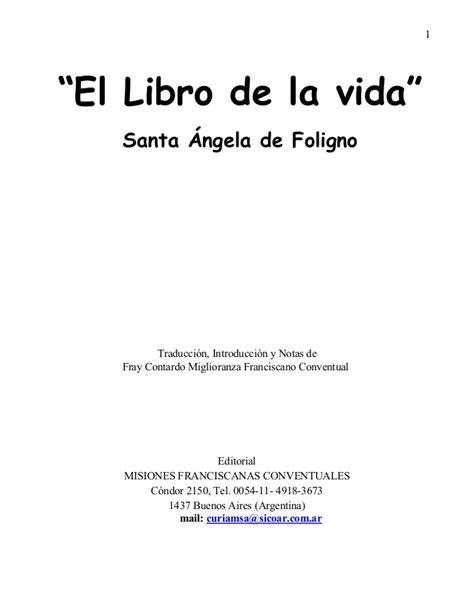 libro aixa s la vida santa angela libro el libro de la vida