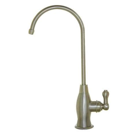 goose shaped brushed nichel kitchen faucet ispring drinking water coke shaped high spout faucet in