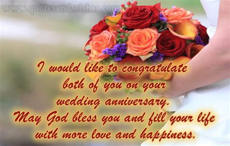Wedding Wishes God I Would Like To Congratulate4 Both Of You On Your Wedding Anniversary May God Bless You