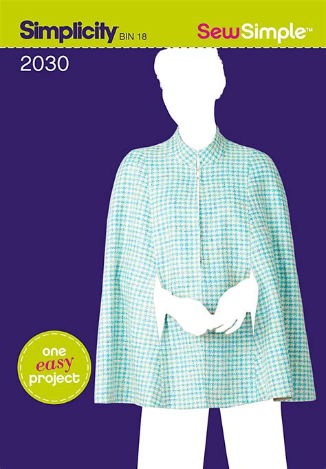simple pattern for a cape simplicity 2030 sew simple misses cape