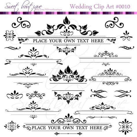 What Is Text Decoration by Text Dividers Digital Clipart Decoration Ornate Set