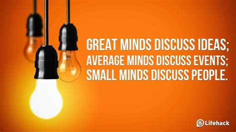 ideas have people quotes about intelligent people talk about ideas quotesgram