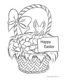 happy easter coloring pages happy easter coloring page of basket 009
