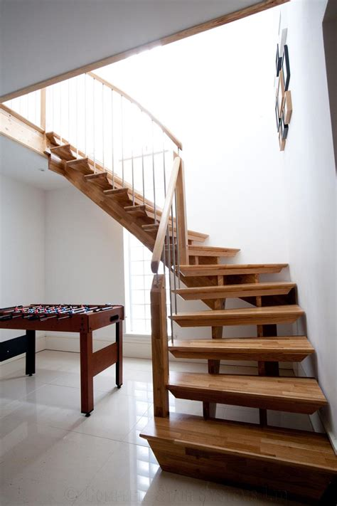 Quarter Turn Stairs Design Bespoke Timber Staircase New Malden Spiral Staircases And Staircases