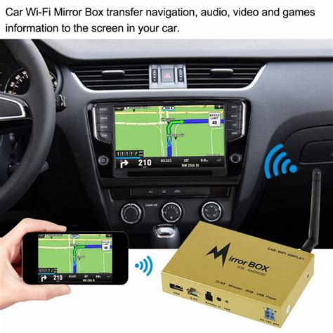 car wifi mirror box  ios  android mobile phone gps