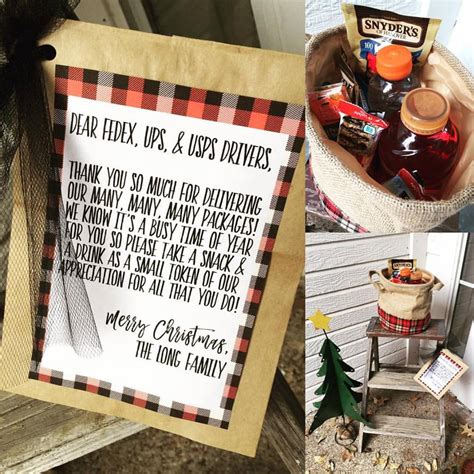 christmas gift for ups driver sweet blessings delivery driver treats