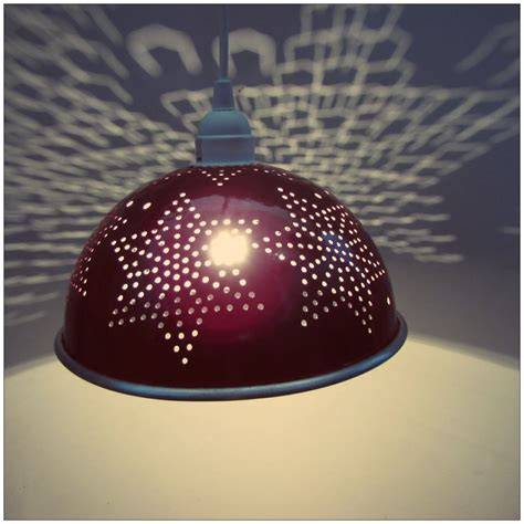 Colander Light Fixture Apple Hanging Colander Light Fixture