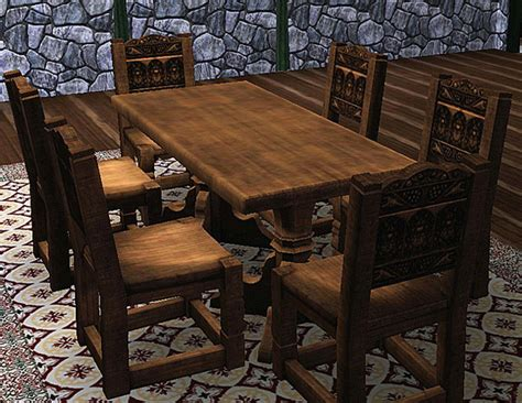 Log Dining Room Tables by Mod The Sims Medieval Dining Table And Chairs Sims 2