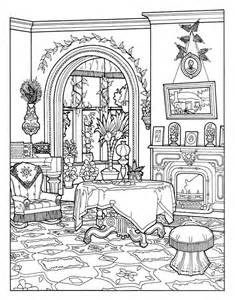 Galerry home interior coloring book