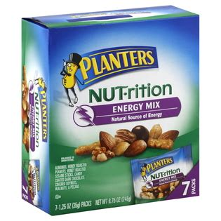 Planters Energy Mix by Planters Nut Rition Mix Energy 1 25 Oz 35 G Packs 8 75 Oz