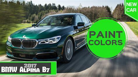 2017 alpina b7 paint colors