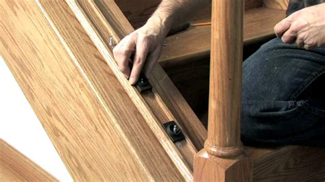 banister installation stairs how to install stair railing easily how to install