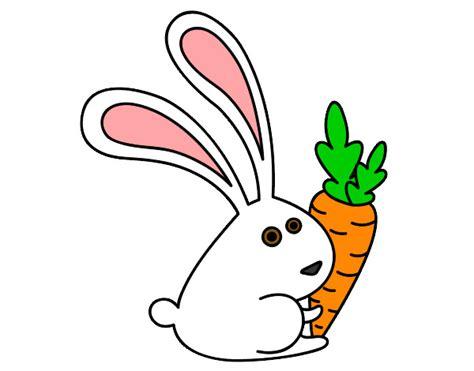 imagenes infantiles zanahoria dibujo de conejo con zanahoria pintado por gemmagemit en