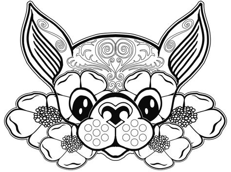 Chihuahua Coloring Pages Printables by Chihuahua Coloring Pages Coloring Home