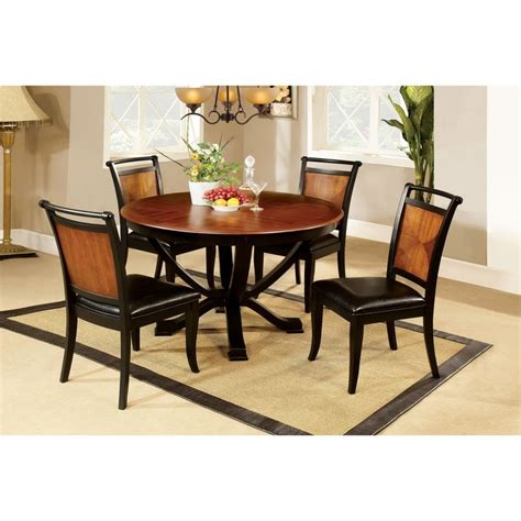 furniture dining room sets at big lots overstock furniture of america lyda acacia wood black 5 piece