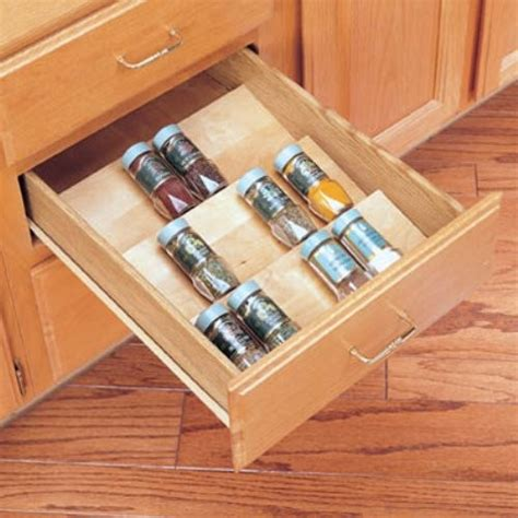 shelf inserts for kitchen cabinets rev a shelf wood spice drawer insert contemporary