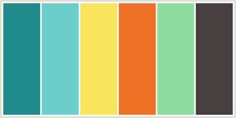 good colors colorcombo6656 with hex colors 218c8d 6ccecb f9e559