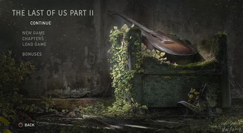 the last of us pc the last of us part 2 menu gaming