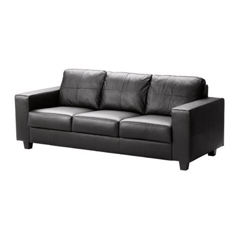 Black Leather Sofa Ikea Skogaby Sofa Glose Bomstad Black Ikea