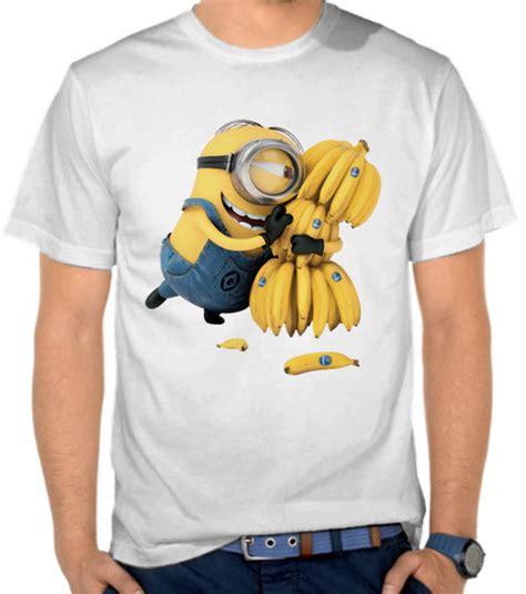 Kaos Unisex 3warna Banana 1 jual kaos despicable me 3 despicable me satubaju
