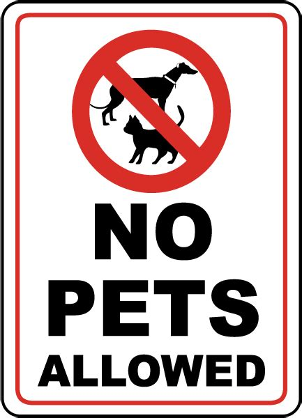 no dogs allowed sign no pets allowed sign by safetysign f2495