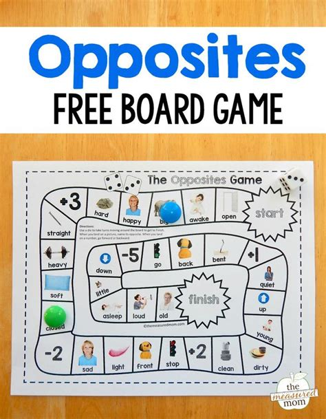 printable board games for kindergarten 287 best images about opposites motsatser on pinterest