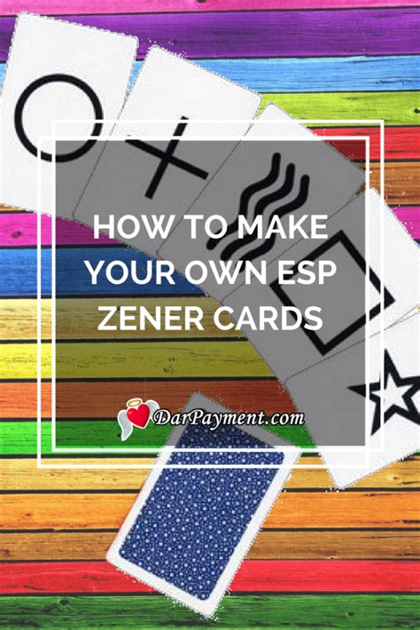 how to make your own cards with photos how to make your own esp zener cards dar payment
