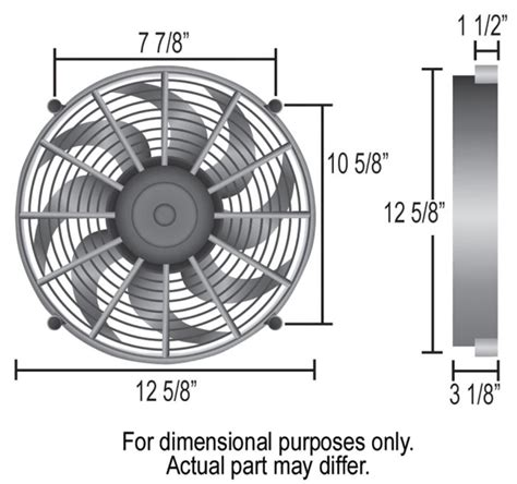 5000 cfm electric radiator fan derale 12 quot high output electric radiator fan 2 150 cfm