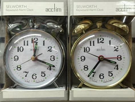 acctim selworth double bell wind  alarm clock
