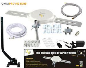 lava omni directional outdoor hdtv vhf tv antenna hd 8008 cable install kit ebay