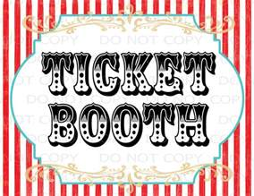 Carnival Sign Template by Printable Diy Vintage Circus Ticket Booth Table Sign