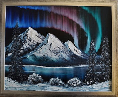 Northern Lights Bob Ross Painting Flickr Photo