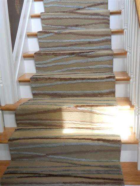 rug for stairs custom modern stair runners traditional staircase new york by peykar rugs carpet
