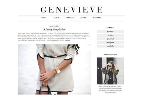 blog themes etsy wordpress theme premade blog template design